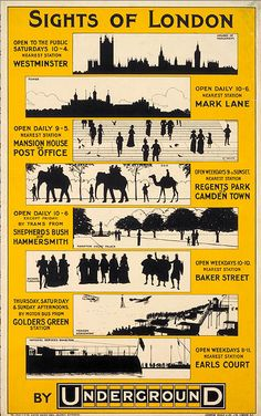 Sights of London- London Underground poster
