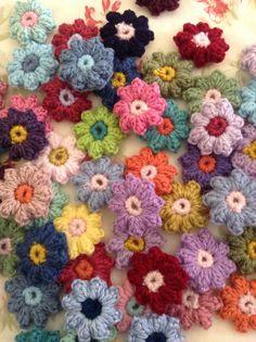 Crochet flowers.  Angelalal242