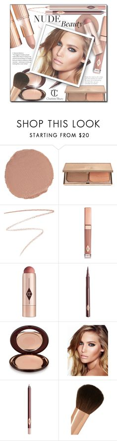 """""""#683 - Nude Lips/Beauty: Charlotte Tilbury"""" by lilmissmegan ❤ liked on Polyvore featuring beauty, Charlotte Tilbury, BeautyTrend, Beauty, nudelip, Charlottetilbury and nudebeauty"""