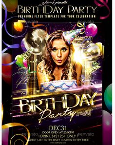Birthday Party Flyer Template | Party flyer and Flyer template