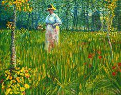 bofransson: Femme dans un jardin - Vincent van Gogh
