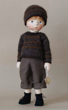 Boy in Gray Knit H342 by Elisabeth Pongratz