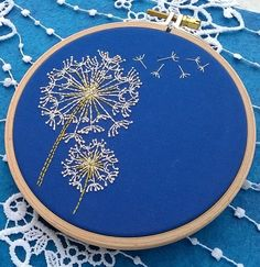 Dandelion Embroidery Kit for Beginners   Modern Embroidery Kits for Beginners