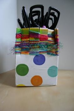 ReCycle Craft: Milk Carton Weaving! - - Pinned by #PediaStaff.  Visit http://ht.ly/63sNt for all our pediatric therapy pins