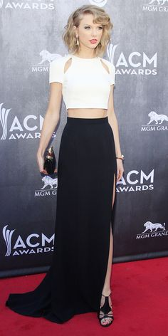 Taylor Swift takes the crop to a whole new level in J. Mendel // #Fashion #Style