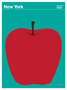 New York Apple | PrintCollection, State of America poster series, Julian Montague, artist
