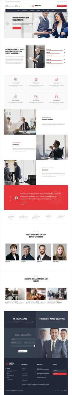 Mastor is a clean and modern design 7in1 responsive #WordPress theme for Lawyer, #attorney and #lawfirm website to download & live preview click on image or Visit  #webdev