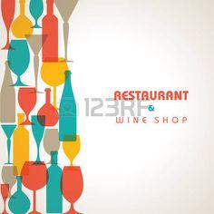Dessin verre de vin bouteille de vin silhouette de verre - 123rf image gratuite ...