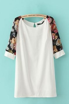 White with a touch of Floral Summer Dressing - must make something similar. find…