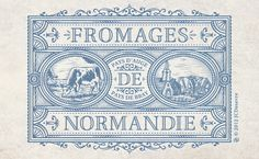 """""""Commercial Poster -Fromages de Normandie-""""  © 2012 JCDesevre"""