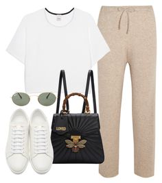 """""""Sin título #3965"""" by camilae97 ❤ liked on Polyvore featuring The Row, Pinko, Gucci, Yves Saint Laurent and Ray-Ban"""