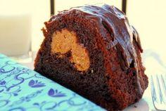 Chocolate Peanut Butter-Stuffed Bundt Cake