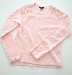 PINK sweater with golden spikes <3