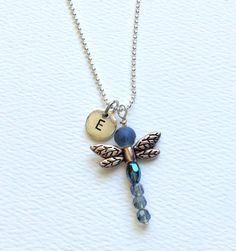 Dragonfly Necklace/Friendship Jewelry/ Bff by JewelryLoveMoments