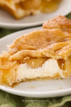 Apple Cheese Danish Bars are a quick and easy dessert that is perfect any occasion! Sweetened cream cheese and apple pie filling layered between two sheets of crescent dough create a luscious treat that your family is sure to love!