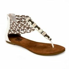 MUK LUKS Sierra Braided Thong Sandals - Women Kohls