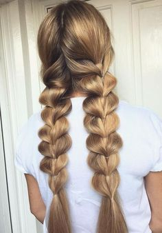 These braided hairstyles tutorials really are beautiful - Hair Tutorials Easy Braided Hairstyles For Long, Braided Hairstyles Tutorials, Braids For Long Hair, Trendy Hairstyles, Wedding Hairstyles, Pixie Hairstyles, Loose Braids, Asymmetrical Hairstyles, Shaved Hairstyles