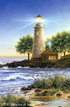Beacon of Joy by Dona Gelsinger ~ lighthouse