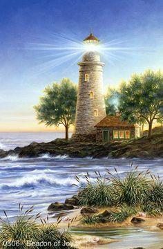 Beacon of Joy by Dona Gelsinger ~ lighthouse