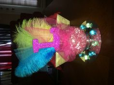 Great for masquerade themed quince centerpiece too Quince Centerpieces, Quince Decorations, Quinceanera Centerpieces, Quinceanera Ideas, Neon Sweet 16, Sweet 15, Sweet 16 Birthday, 15th Birthday, Birthday Wishlist