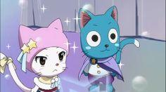 Happy and Carla~ Carla Fairy Tail, Fairy Tail Cat, Image Fairy Tail, Fairy Tail Happy, Fairy Tail Family, Fairy Tail Couples, Fairy Tail Ships, Fairy Tail Anime, Erza Scarlet