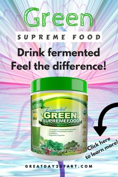 Drink fermented and feel the difference in your body. Green supreme food is a concentrate of fermented vegetables. Fermented food is ideal for the body, read more here! [May contain an affiliate link, but it does not affect your price in any way. Body Cleanse, Body Detox, Vegetarian Lifestyle, Healthy Lifestyle, Detoxification Diet, Healthy Diet Recipes, Food Facts, Fermented Foods, Holistic Healing