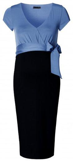 Tehotenské elegantné šaty s krátkym rukávom NOPPIES - čierna 0a0660d257b