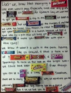 So cute even tho fathers day passed i actually Did something Like this but different candy