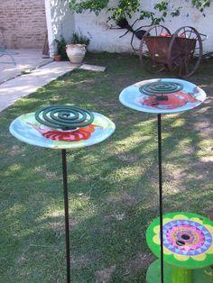 Porta espiral para jardin
