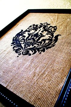 Damask & Burlap Memo Cork Board