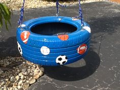 painted+tire+swings | Tire Swings and Tree Swings