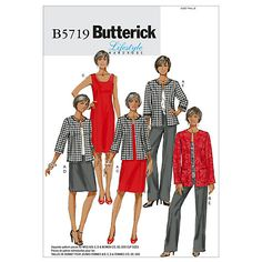 Buy Butterick Women's Dress, Jacket & Trousers Sewing Pattern, 5719 Online at johnlewis.com