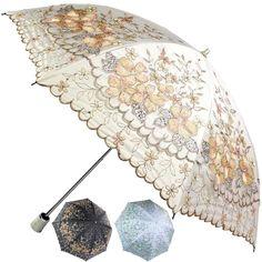 New Women Vintage/Embroidery Blossoms Flowering Anti UV Lace Parasol Umbrellas  #LZSYDS002 #twofoldingParasolUmbrella