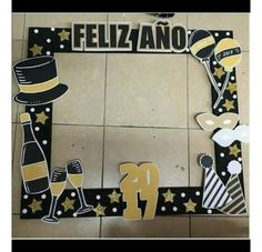 Trendy Birthday Party Decorations New Years 50th Birthday Party Decorations, New Years Decorations, Diy Birthday, Birthday Parties, Party Props, Diy Party, Ideas Party, New Year Props, Photo Booth Picture Frames