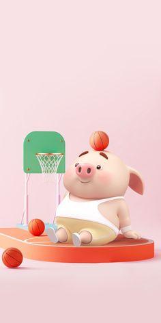 Happy Birthday Pig, Pig Wallpaper, Cute Piglets, Pig Drawing, Pig Illustration, Mini Pigs, Little Pigs, Kawaii, Knitting Designs