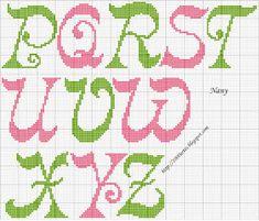 1000 Artes: Gráfico Alfabeto - Ponto Cruz