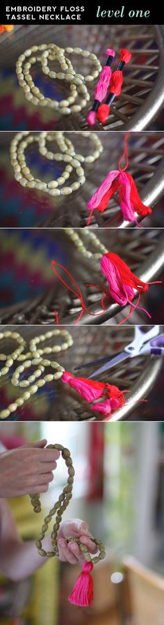Five Minute Tassel Necklaces