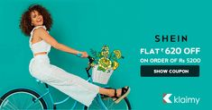 Summer Season Sale #SheIn_official : Flat Rs 620 OFF on latest women #fashion Minimum Purchase is Rs 5200. #sheinstyle #summersale #clothing #shoes #dress For more #offers #coupons visit #Klaimy