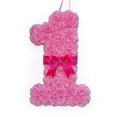 Handmade birthday wreath paper flower  number by WreathsByHris