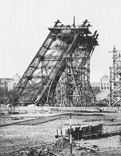 Gustave Eiffel, First Leg of the Eiffel Tower Under Construction, Paris, France, 1888 .pinned by Maurie Daboux Gustave Eiffel, Old Paris, Vintage Paris, History Of Photography, Paris Photography, Tour Eiffel, Eiffel Tower Pictures, French History, Paris Ville
