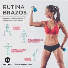 Rutina para tonificar los brazos www.instafit.com #workout #arms #gif #instafit