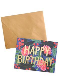 Birthday Floral Foil Card Set