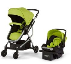 New Baby Strollers Urbini Omni 3-in-1 Reversible Toddlers Stroller Car Seat lime