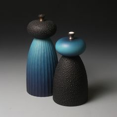 Moody Blue Salt and Pepper Mills (ready to ship) Salt And Pepper Mills, Food Serving Trays, Acrylic Resin, Ceramic Design, Wood Bowls, Wood Turning, African Art, Product Design, Industrial Design