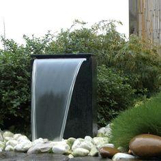Cascade et  fontaine de jardin , 69 déco pour les moments de relaxe - fontaine-de-jardin-ùinimalist-contamporain-