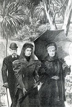Empress Eugénie with Empress Elisabeth