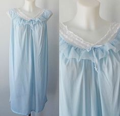 A personal favorite from my Etsy shop https://www.etsy.com/ca/listing/271059002/vintage-blue-nightgown-arnel-1960s