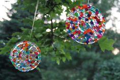 pony bead sun catchers. so pretty! // sometimes creative.