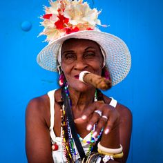 Cigar Lady  Quintessential picture taking in Cuba