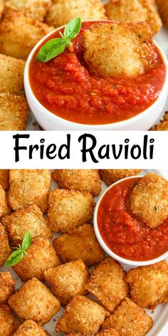 These Crispy Fried Ravioli are deliciously flavored, cheesy, and crunchy. They are addictively good & will definitely become a family favorite. #ravioli #crispyravioli #friedravioli #crispyfriedravioli